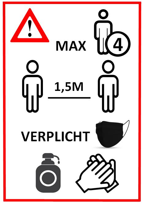 COVID19 richtlijnen Raamdecoratie Verheyen